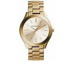 Slim Runway Gold-Tone Stainless Steel Watch